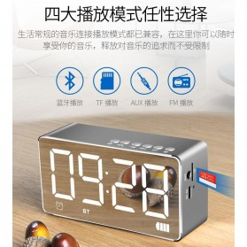 Bluetooth Speaker Alarm Clock FM Radio TF Card - Q9 - Black - 5