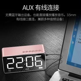Bluetooth Speaker Alarm Clock FM Radio TF Card - Q9 - Black - 6