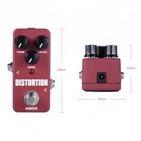 KOKKO Pedal Efek Gitar Distorsi - FDS2 - Red - 6