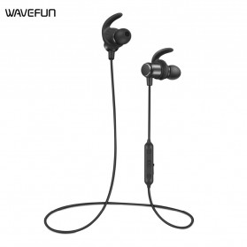 Wavefun Earphone Bluetooth Sport aptX Magnetic dengan Microphone - Black