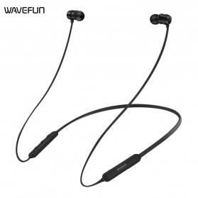 Wavefun Flex Earphone Bluetooth Sport CVC 6.0 dengan Microphone - Black