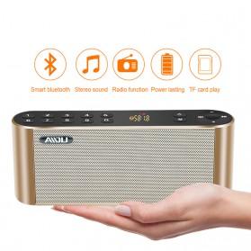 AIDU Speaker Bluetooth Portabel Fashion Elegan - Q8 - Black - 4