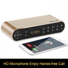 AIDU Speaker Bluetooth Portabel Fashion Elegan - Q8 - Black - 5