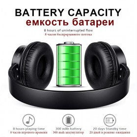 Sound Intone P30 Bluetooth Headphone TF Card with Mic - Black - 2