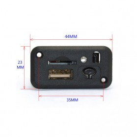 Modul Tape Audio MP3 Player Mobil dengan USB dan TF Card Slot - ZTV-CT09 - Black - 8