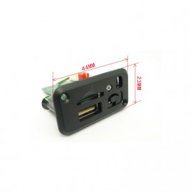 Modul Tape Audio MP3 Player Mobil dengan USB dan TF Card Slot - ZTV-CT09 - Black - 9