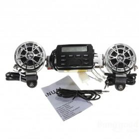 Perangkat Audio MP3 Player FM Radio untuk Motor dengan 2 Speaker - MT-723 - Black
