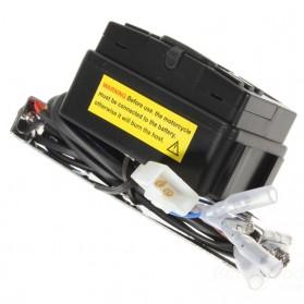 Perangkat Audio MP3 Player FM Radio untuk Motor dengan 2 Speaker - MT-723 - Black - 2