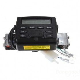 Perangkat Audio MP3 Player FM Radio untuk Motor dengan 2 Speaker - MT-723 - Black - 3