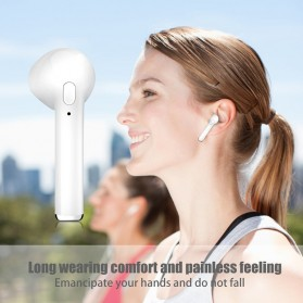 Mini Earphone Airpods Bluetooth 4.2 with Charging Case - i7S TWS - Black - 4