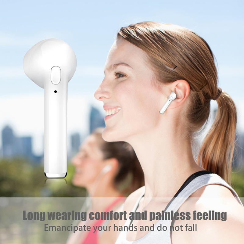Mini Earphone Airpods Bluetooth 4 2 With Charging Case I7s Tws Black Jakartanotebook Com