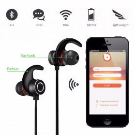 Earphone Bluetooth Sporty dengan Bass Stereo - S6-6 - Black - 2