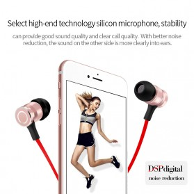 Earphone Bluetooth Sporty dengan Bass Stereo - S6-6 - Black - 3