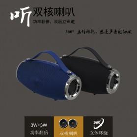 Wireless Bluetooth Speaker 360 TF Card FM Radio - E16 - Black - 2