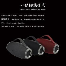 Wireless Bluetooth Speaker 360 TF Card FM Radio - E16 - Black - 4
