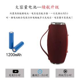 Wireless Bluetooth Speaker 360 TF Card FM Radio - E16 - Black - 5
