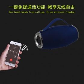 Wireless Bluetooth Speaker 360 TF Card FM Radio - E16 - Black - 6