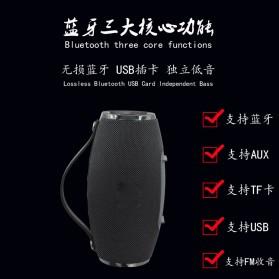 Wireless Bluetooth Speaker 360 TF Card FM Radio - E16 - Black - 7