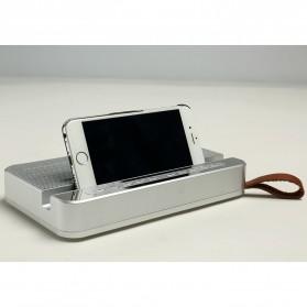 Bluetooth Speaker Relaksasi dengan Smartphone Stand - V2 - Silver