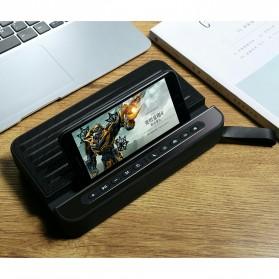 Bluetooth Speaker Relaksasi dengan Smartphone Stand - V2 - Silver - 7
