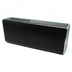 Aluminium Portable Bluetooth Speaker 20W TF Card & FM Radio - Black - 4