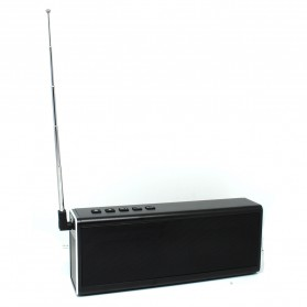 Aluminium Portable Bluetooth Speaker 20W TF Card & FM Radio - Black - 5