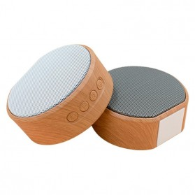 Elegant Wood Mini Bluetooth Speaker - A60 - White