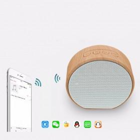 Elegant Wood Mini Bluetooth Speaker - A60 - White - 3