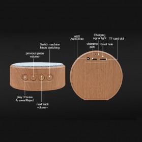 Elegant Wood Mini Bluetooth Speaker - A60 - White - 4