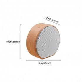 Elegant Wood Mini Bluetooth Speaker - A60 - White - 5