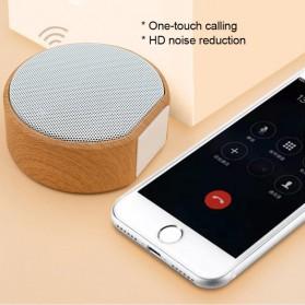 Elegant Wood Mini Bluetooth Speaker - A60 - White - 6