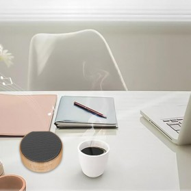 Elegant Wood Mini Bluetooth Speaker - A60 - White - 7