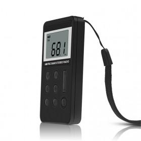 HRD Portable AM/FM Radio Player - HRD-103 - Silver - 3