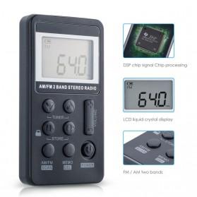 HRD Portable AM/FM Radio Player - HRD-103 - Silver - 5