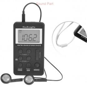 HRD Portable AM/FM Radio Player - HRD-103 - Silver - 6