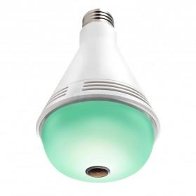 Bohlam LED RGB E27 dengan Bluetooth Speaker & CCTV IP Camera 960P - White - 2
