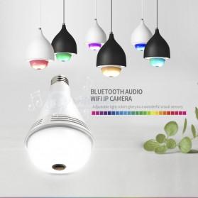 Bohlam LED RGB E27 dengan Bluetooth Speaker & CCTV IP Camera 960P - White - 3