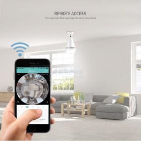Bohlam LED RGB E27 dengan Bluetooth Speaker & CCTV IP Camera 960P - White - 4