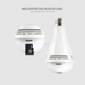 Bohlam LED RGB E27 dengan Bluetooth Speaker & CCTV IP Camera 960P - White - 6