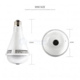 Bohlam LED RGB E27 dengan Bluetooth Speaker & CCTV IP Camera 960P - White - 9