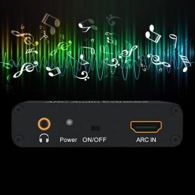 Audio Konverter HDMI Arc ke SPDIF Coaxial RCA 3.5mm AUX - Black - 2