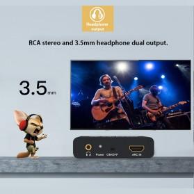 Audio Konverter HDMI Arc ke SPDIF Coaxial RCA 3.5mm AUX - Black - 3