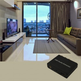 Audio Konverter HDMI Arc ke SPDIF Coaxial RCA 3.5mm AUX - Black - 5