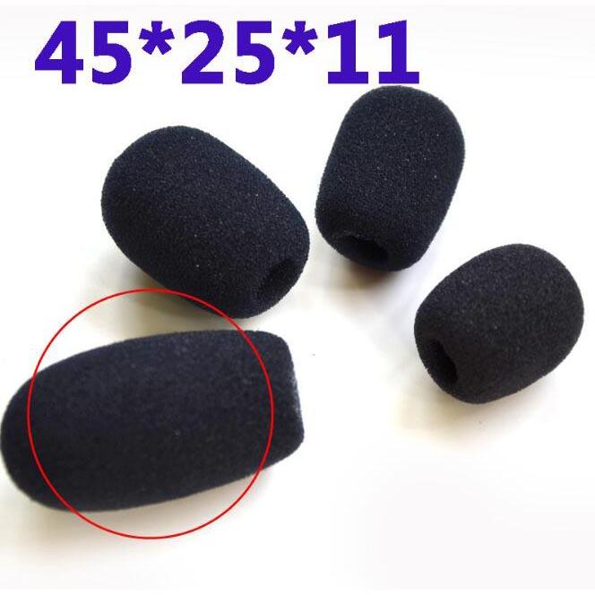 Cover Penutup Busa Mikrofon Kecil 4PCS - Black - 2
