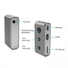 Rovtop Car Audio Bluetooth Receiver Adapter Mobil 3.5mm - BT710 - Silver - 3