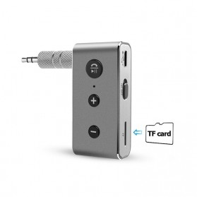 Rovtop Car Audio Bluetooth Receiver Adapter Mobil 3.5mm - BT710 - Silver - 4