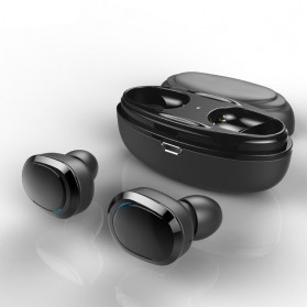 True Wireless Earphone Bluetooth dengan Charging Case - TWS-8 - Black