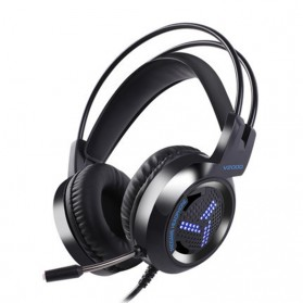 Pro Gaming Headset 7.1 RGB Mode LED Light with Microphone - V2000 - Black