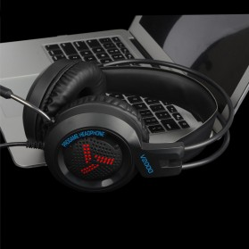 Pro Gaming Headset 7.1 RGB Mode LED Light with Microphone - V2000 - Black - 3