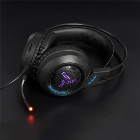 Pro Gaming Headset 7.1 RGB Mode LED Light with Microphone - V2000 - Black - 4